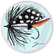 Polka Dot Pike Round Beach Towel