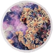 Pollen Gatherer Round Beach Towel