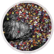 Round Beach Towel featuring the photograph Pollacks Pool by Wayne King
