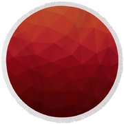Polygon Round Beach Towel