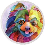 Pom Too Round Beach Towel