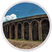 Pompeii Amphitheater Round Beach Towel