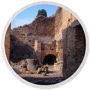 Pompeii,italy Round Beach Towel