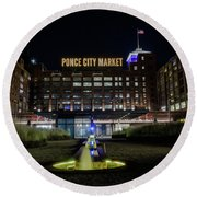 Ponce City Market Round Beach Towel