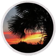 Ponce Inlet Florida Sunset Round Beach Towel