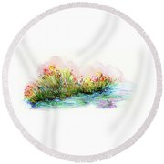 Sunrise Pond Round Beach Towel