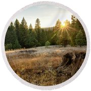 Ponderosa Sunset Round Beach Towel