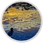 Pondscape Round Beach Towel by Jeffrey Friedkin