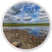 Ponkapoag Pond Round Beach Towel by Brian MacLean