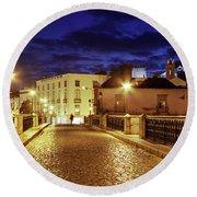 Ponte Romana At Blue Hour / Tavira, Portugal Round Beach Towel