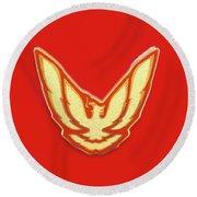 Pontiac Firebird Emblem Round Beach Towel