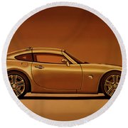 Pontiac Solstice Coupe 2009 Painting Round Beach Towel