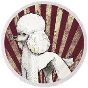 Poodle Revolution Round Beach Towel