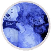 Pooh Bear And Friends Round Beach Towel