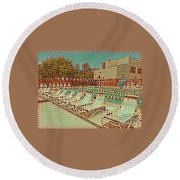 Pool #2 Round Beach Towel