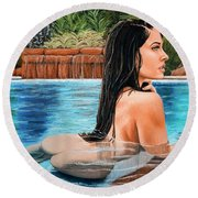 Pool Side Round Beach Towel