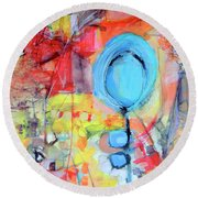Pools Of Calm Round Beach Towel