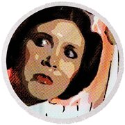 Pop Art Princess Leia Organa Round Beach Towel