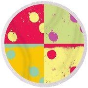 Pop It Round Beach Towel