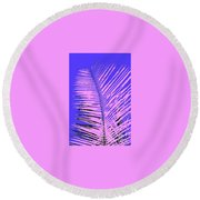 Pop Palm Round Beach Towel