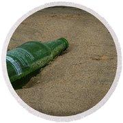 Pop That Bottle Round Beach Towel