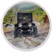 Popcorn Sutton - Looking For Likker Round Beach Towel