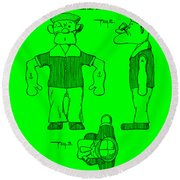 Popeye Doll Patent 1932 In Green Round Beach Towel