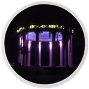Popp Bandstand New Orleans City Park Round Beach Towel by Deborah Lacoste