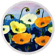 Poppies In Colour Round Beach Towel