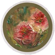 Poppies Round Beach Towel by Mary Wolf