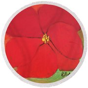 Poppy 2 Round Beach Towel