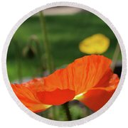Poppy Cup Round Beach Towel