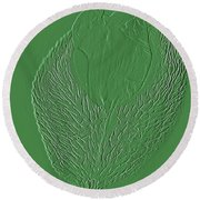 Poppy Embossing  Round Beach Towel by Chris Berry