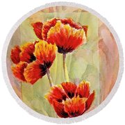 Poppy Trio Round Beach Towel