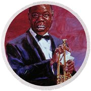 Pops Armstrong Round Beach Towel