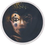 Porcelain Doll. Performing Arts Event Round Beach Towel
