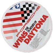 Porsche 24 Hours Of Daytona Wins Round Beach Towel