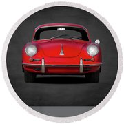 Porsche 356 Round Beach Towel by Mark Rogan