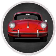 Porsche 356 Round Beach Towel