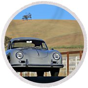 Porsche 356a European Round Beach Towel