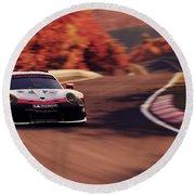 Porsche 911 Rsr, Nordschleife - 41 Round Beach Towel