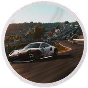 Porsche 911 Rsr, Spa-francorchamps - 33 Round Beach Towel