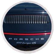 Porsche 911 Targa 4s Round Beach Towel