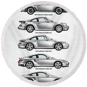 Porsche 911 Turbo Evolution Round Beach Towel