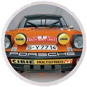 Porsche 914-6 Illustration Round Beach Towel