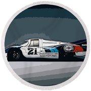 Porsche 917 Longtail 1971 Round Beach Towel