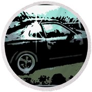 Porsche 944 Round Beach Towel