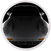 Porsche 959 - Front View Round Beach Towel