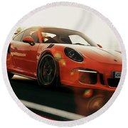 Porsche Gt3 Rs - 4 Round Beach Towel