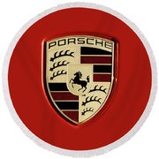 Porsche Power Red 111216 Round Beach Towel